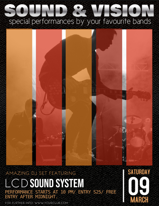 Concert Flyer Template, Band Night, Jazz, Concert