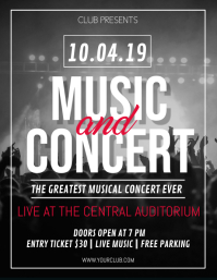 Concert Flyer Template, Karaoke Night flyer, Music