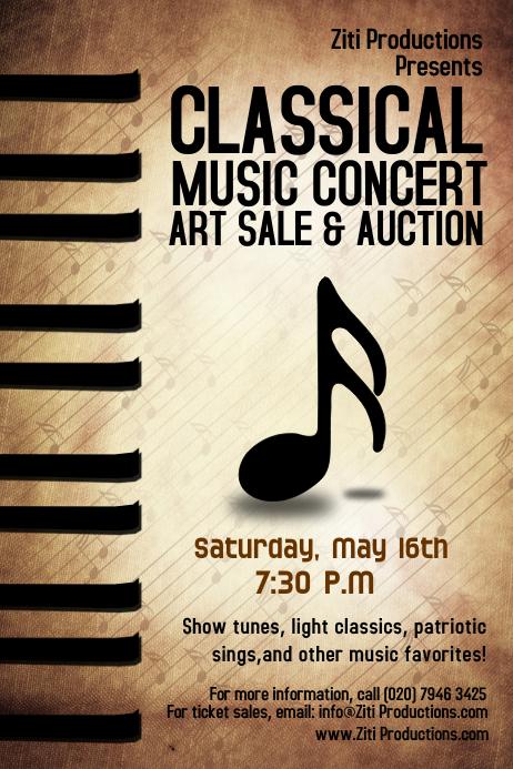 Concert Flyer template Poster