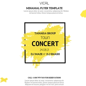 CONCERT FLYER TEMPLATE Square (1:1)