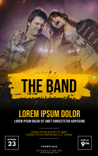 Concert Flyer Template Couverture Kindle