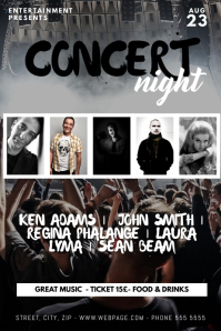 Concert Flyer Template five photos