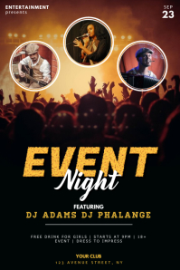 Concert Flyer Template with pictures