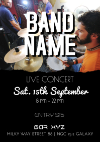 Concert Live Band Poster Flyer Bar Club Music