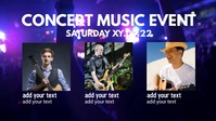 Concert Music Band Event Party Plays Header Facebook-omslagvideo (16:9) template