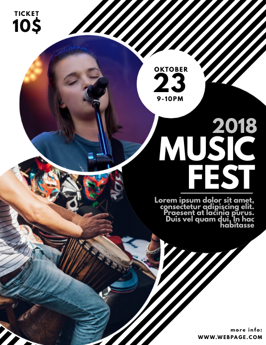 concert Music Fest Flyer Template