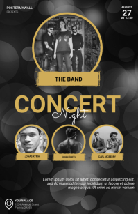 Concert Night Flyer Design Template Tabloid