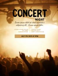 Concert Night Flyer Template