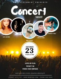 Concert party flyer template