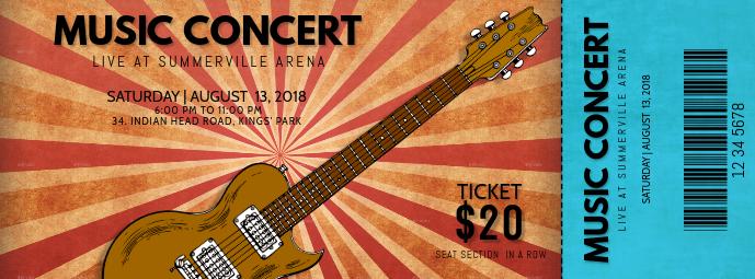 Concert Pass Template Facebook Cover Photo