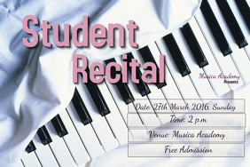 Concert/recital flyer