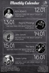 Concert Schedule Flyer Template