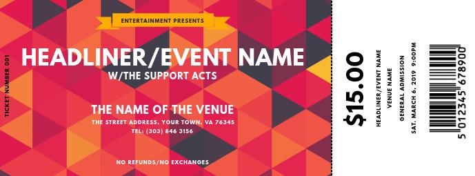 Concert Ticket Facebook 封面图片 template