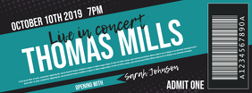 Concert ticket Couverture Facebook template