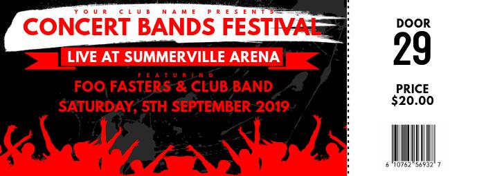 Concert Ticket Zdjęcie w tle na Facebooka template