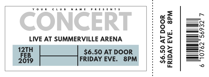Concert Ticket Facebook-Cover template