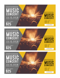 Concert Tickets Template Flyer (US Letter)