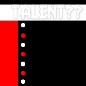 Concert Type Flyer Looking for Talent