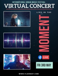 Concert video collage Folheto (US Letter) template