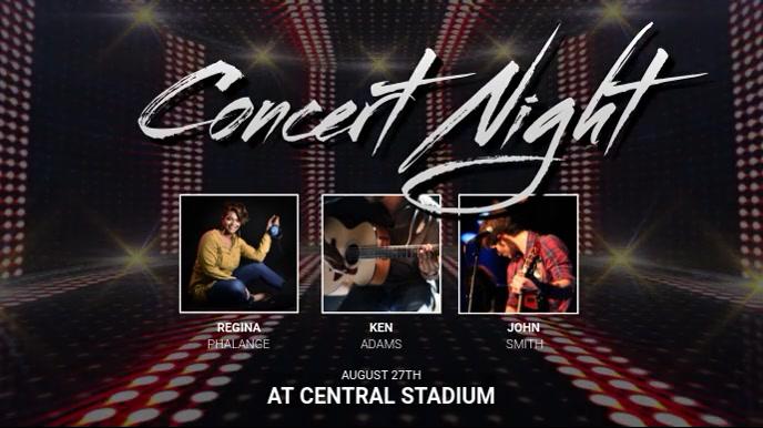 Concert Video digital display template