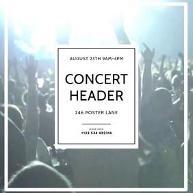 Concert Video Event Instagram design