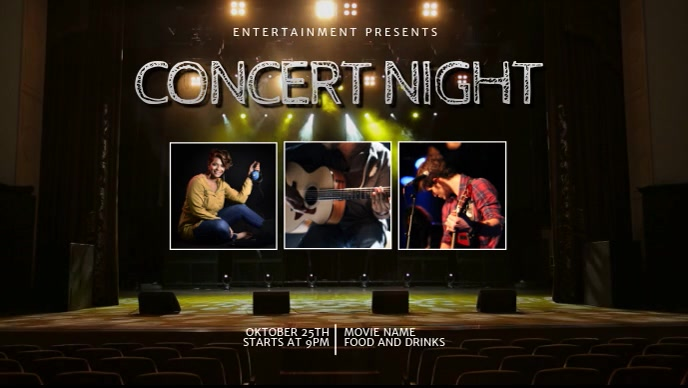 Concert Video Template for facebook cover