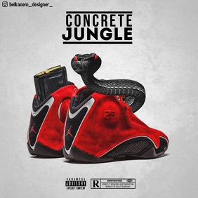 Concrete Jungle Capa de álbum template