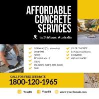 Concrete service instagram template