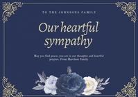 Condolence Card Postcard template