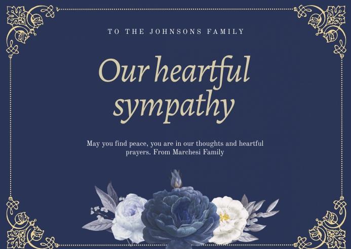 Condolence Card Открытка template