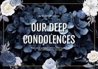 Condolence Card Pocztówka template