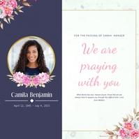 Condolence Card Instagram Post template