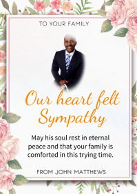 Condolence flyer A3 template