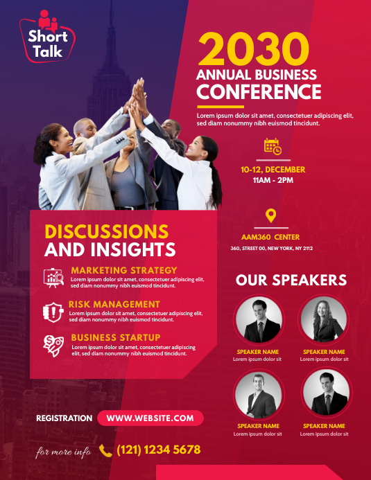 Conference Flyer Pamflet (VSA Brief) template