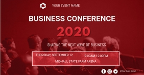 Conference flyer Facebook Shared Image template