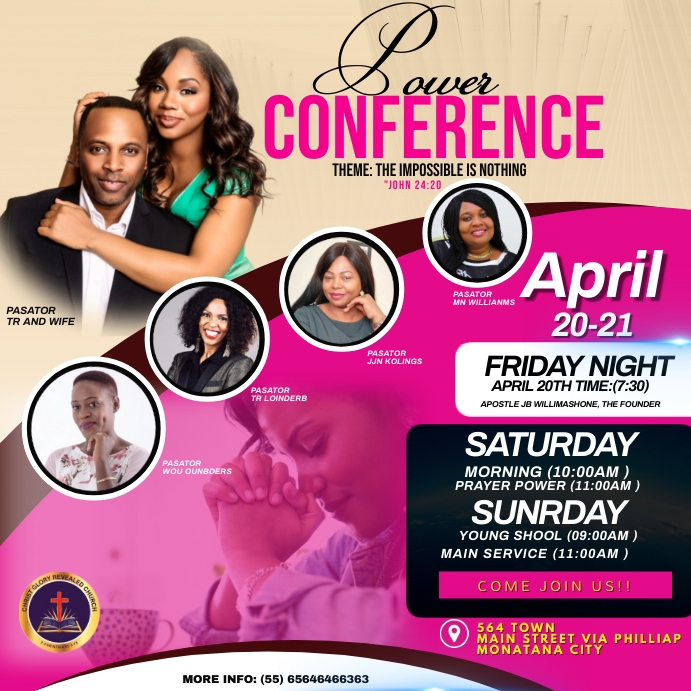 CONFERENCE FLYER Persegi (1:1) template