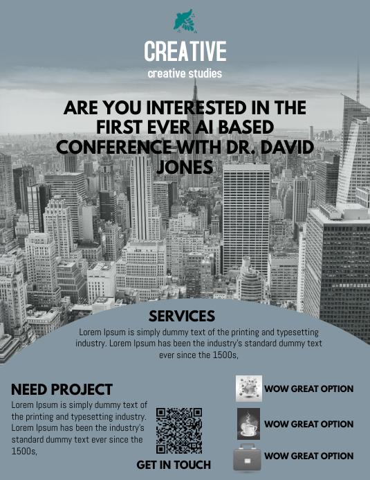 Conference Flyer Template Folder (US Letter)