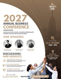Conference Flyer Template 传单(美国信函)