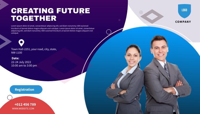 conference flyers Ad Template Cabeçalho de blogue