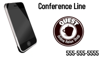 Conference Line Business Card template