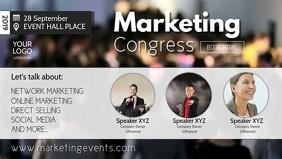 Conference Marketing Network Congress Speaker Video copertina Facebook (16:9) template