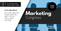Conference Marketing Network Congress Speaker Facebook-Veranstaltungscover template