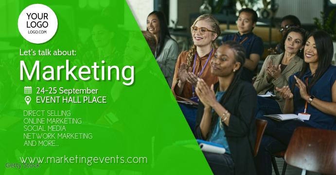 Conference Marketing Network Congress Speaker Обложка мероприятия для Facebook template