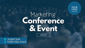 Conference Marketing Network Event Speaker Ad Video copertina Facebook (16:9) template