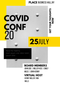 Conference Meeting Flyer Template A3