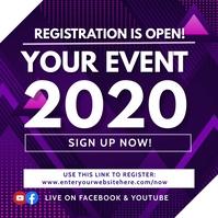 Conference Registration Instagram Post template