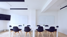 Conference Room - Zoom Background Templates งานนำเสนอ Presentation (16:9)