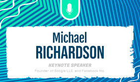 Conference Speaker Introductory Tag Merker template