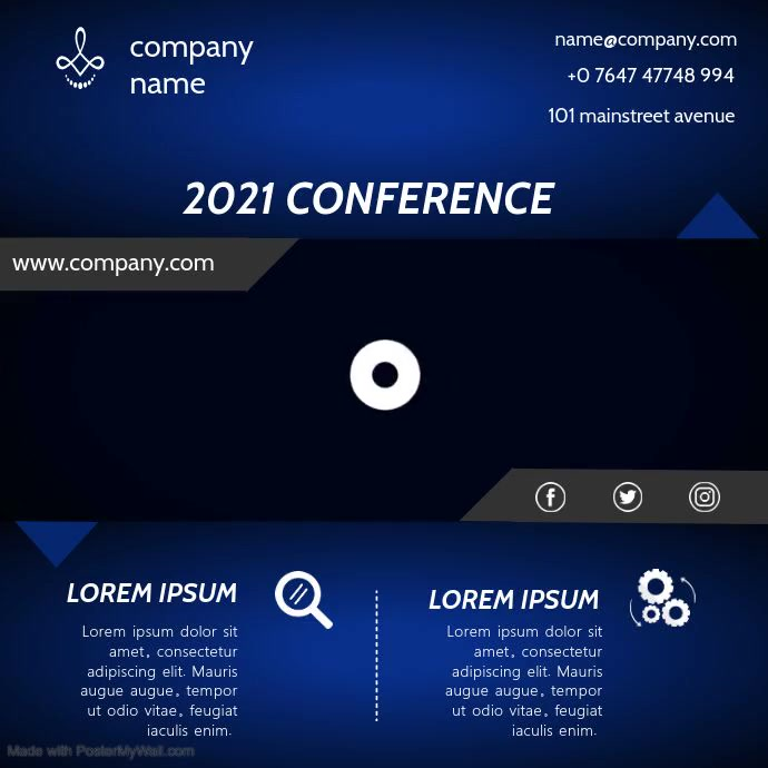 CONFERENCE VIDEO AD Persegi (1:1) template