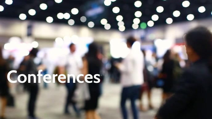 Conferences video poster template